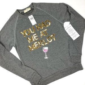 Bow & Drape You Had Me At Merlot sweatshirt